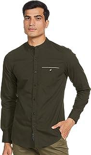 Amazon Brand - House & Shields Men's Solid Regular Casual Shirt