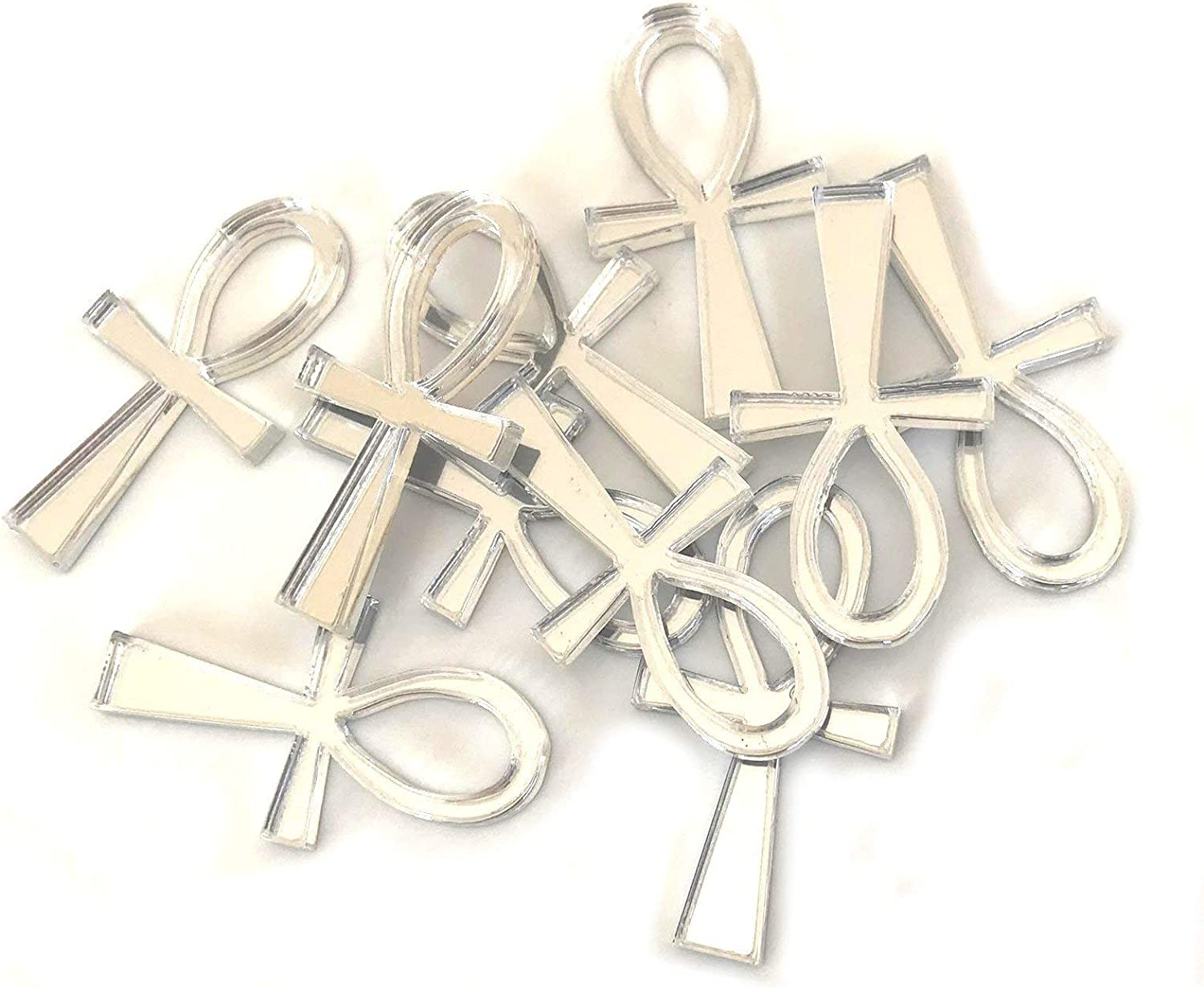 Super 5 ☆ popular Cool Fees free!! Creations Ankh Shaped Crafting Ma Mirrors Set of 10