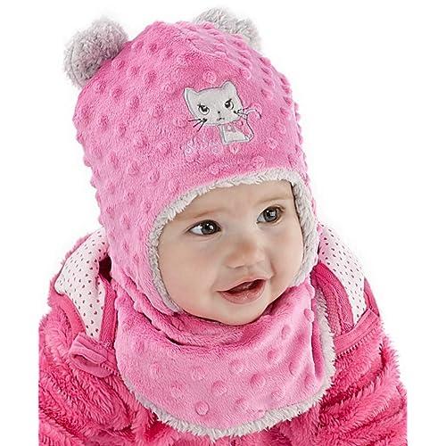 dd91b52d021 Baby Girl Hat   Scarf Infant Girls Set Winter Size 6-24 mths 2-