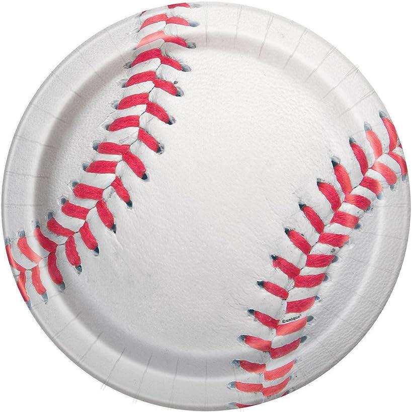 Baseball Dinner Plates, 8ct