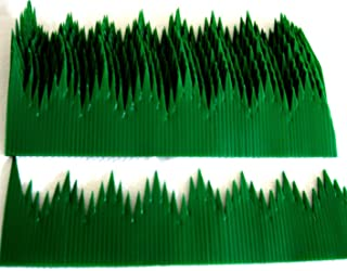 100pcs Japan Sushi Decoration Anti Bacterial Long Baran Grass Green Leaf Divider