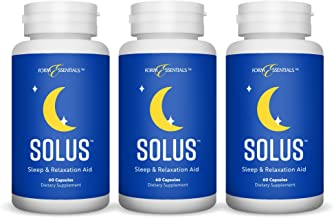 Form Essentials Solus, Herbal Sleep Aid and Relaxation Supplement, All Natural with Valerian, Melatonin, Chamomile, 5-HTP,...