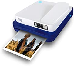 KODAK Smile Classic Digital Instant Camera for 3.5 x 4.25 Zink Photo Paper - Bluetooth, 16MP Pictures (Blue) Sticker Frame...