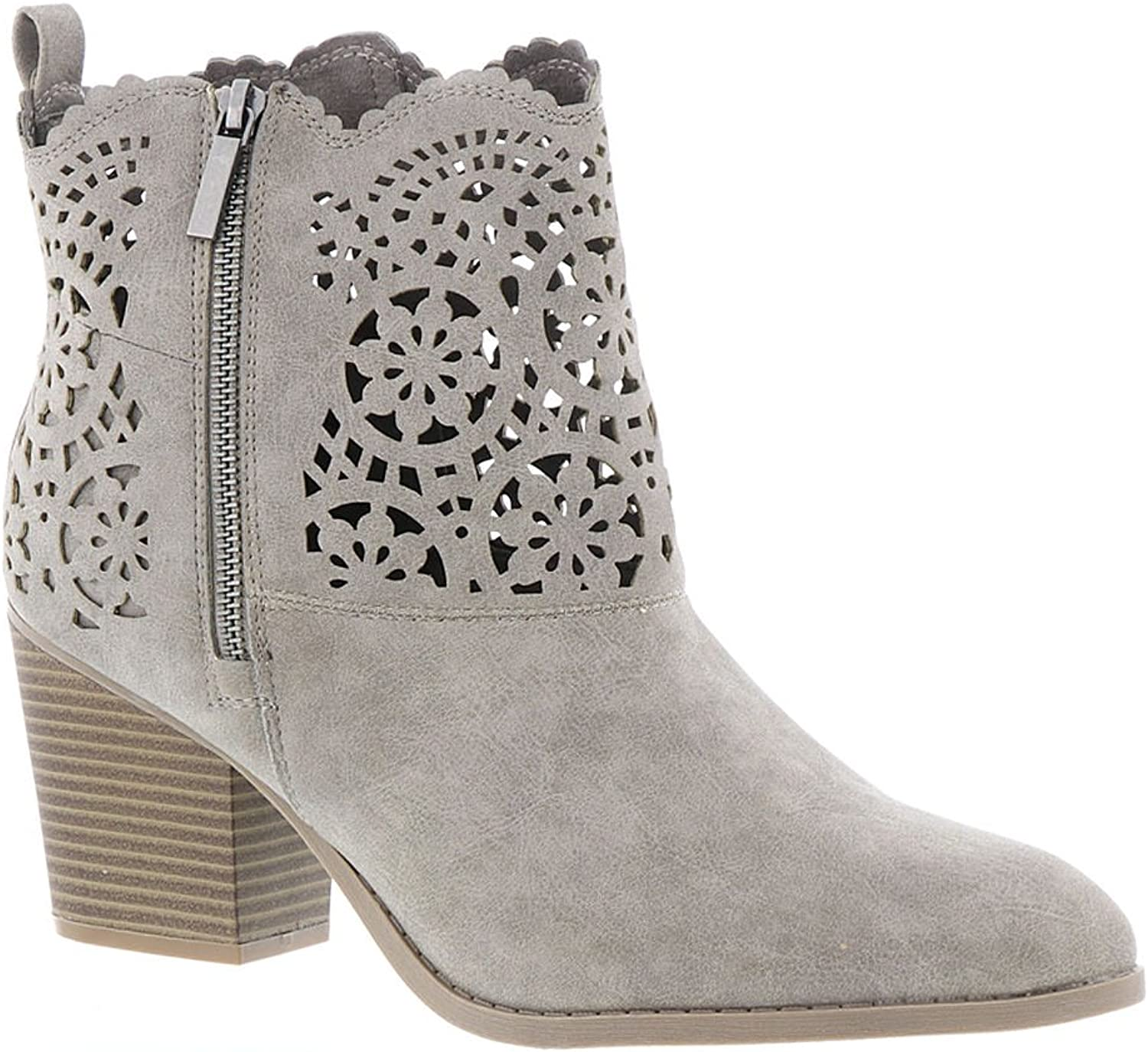 Rampage Womens Unity Ankle Boot with Cutout Design