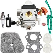 FS90 Carburetor for Stihl FS100 FS100R FS110 FS110R FS130 Fuel Line Filter Repower Parts Kit HL90K C1Q-S88 HL95 HL100 HT100 KM90 KM100 KM110 KM130 SP-90 Carb C1Q-S110C 4180-120-0610 4180-120-0611