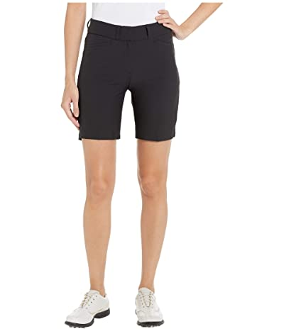 adidas Golf Club 7 Solid Shorts (Black) Women