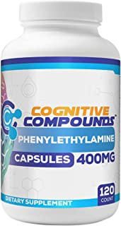 Phenylethylamine (Pea) Capsules - Cognitive Function Support & Elevated Mood - 120 Count - Cognitive Compounds