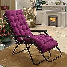 LINGXIYA Comfortabele ligstoelkussens, 8 cm dikke stoelkussens met antislipbanden, fauteuilkussens voor binnen en buiten, ...