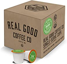 Real Good Coffee Co USDA Certified Organic Dark Roast Coffee K Cups, 36 Count, Recyclable Single Serve Coffee Pods for Keurig K Cup Brewers