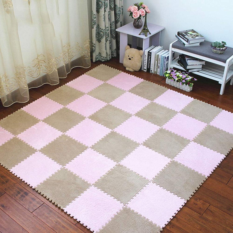 ZI LING SHOP- Play Crawling Mat Schaumboden Spiel Playmat Interlocking Foam Puzzle Verdickte EVA-Bodenmatten blanket (Farbe   B, Größe   30x30x1cm [72 pieces])