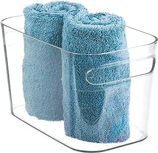 mDesign boîte de rangement pour la salle de bain – stockage de vos accessoires salle de bain : shampooing, lotion, parfum ...