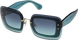 Turquoise Glitter/Azure Gradient/Dark Blue
