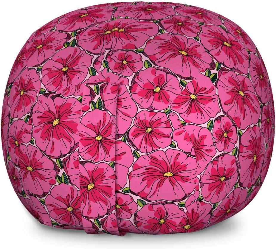 Super sale Ambesonne Floral Selling rankings Storage Toy Bag Peta Meadow Chair Blooms Poppy