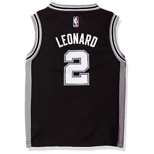 b44303883fb Kawhi Leonard San Antonio Spurs #2 Kids 4-7 Black Road Replica Jersey