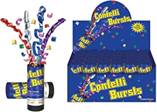 Beistle 50900-MC Confetti Bursts (24 Pack), Multicolor