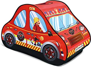FUN LITTLE TOYS Fire Truck Pop Up Play Tent for Kids, Toy Playhouse for Indoor & Outdoor, Gifts for Boys & Girls
