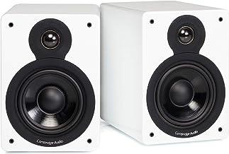 Cambridge Audio Minx XL Bookshelf Speaker | 100 Watt Home Theater Compact Speakers | Pair (Gloss White)