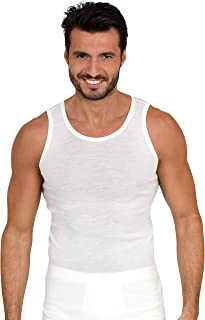 EGI Luxury Merino Wool Blend Men's Sleeveless Shirt Muscle Tank Top. Proudly Made in Italy.