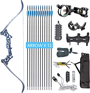 XQMART Takedown Recurve Bow,Bow and Arrow Set,Archery Bow R3,Hunting Recurve for Adults,Draw Weight 45lbs,Right Handed
