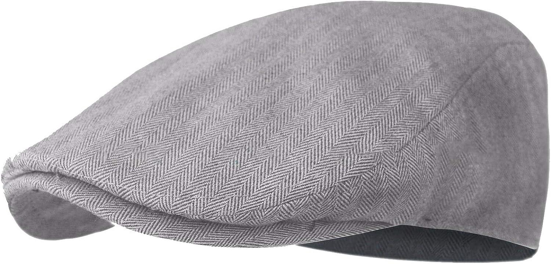 40% OFF Cheap Sale WF Tweed Plaid Ivy Plain Cotton Golf Newsboy Flat Cabbie Hat Columbus Mall Cap