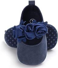 Best BENHERO Baby Infant Girls Soft Sole Floral Princess Mary Jane Shoes Prewalker Wedding Dress Shoes Review