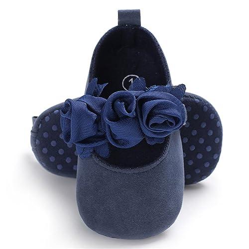 8dca0c0375205 BENHERO Baby Infant Girls Soft Sole Floral Princess Mary Jane Shoes  Prewalker Wedding Dress Shoes