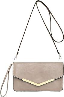 c7317b0262 CRAZYCHIC - Grand Portefeuille Long Style Cuir PU - Pochette Soirée  Enveloppe Femme - Mini Sac