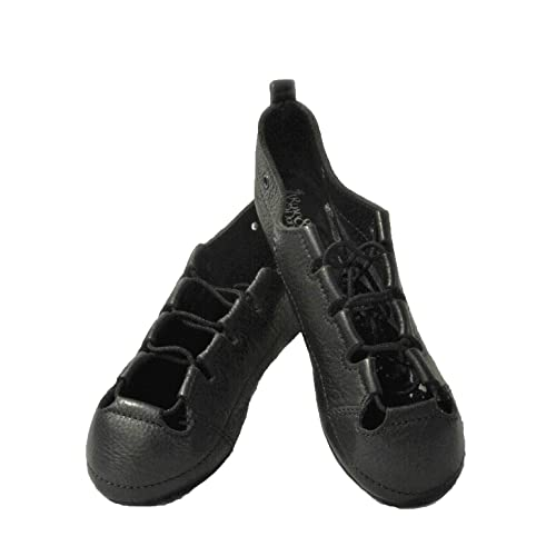 325565a6b3eb RYAN AND ODONNELL Girls Soft Gel Black Leather Irish Dance Pumps - with  Free Drawstring Bag