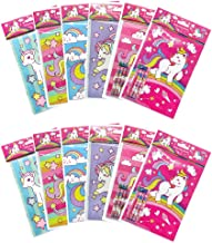 Unicorn Coloring Books with Crayons Party Favors, Set of 12