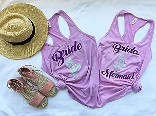 Bachelorette Party Shirts Mermaid, Bachelorette Party Shirts Beach, Bachelorette Party Brides Mermaid, Bridal Party Shirts