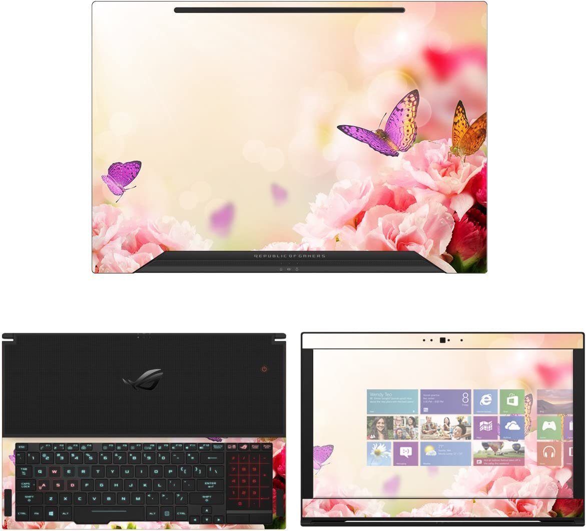 decalrus - Protective Decal New Shipping Free Flower Max 57% OFF Skin for Sticker Asus Zephyru