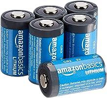 Amazon Basics Lithium CR2 3 Volt Batteries - Pack of 6
