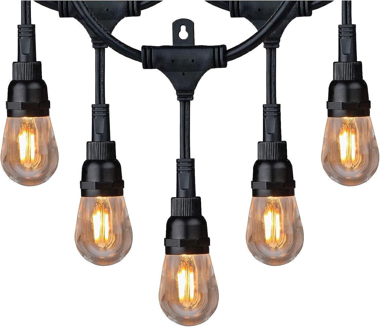 Honeywell 36' Vintage Style LED String Light Set Amber Indoor Outdoor