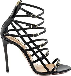 AQUAZZURA Luxury Fashion Womens SMOHIGS0CAL000 Black Sandals | Fall Winter 19