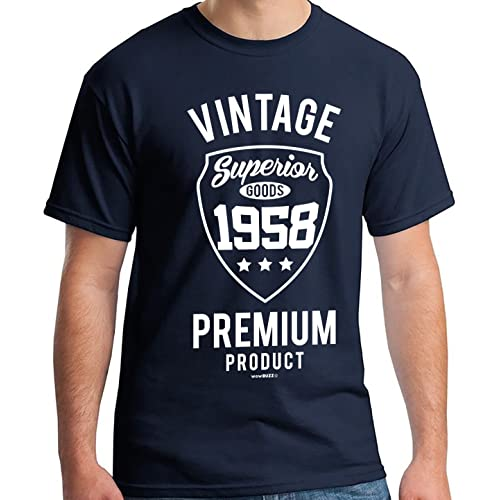 60th Birthday Gifts For Men Vintage Premium 1959 T Shirt Navy Blue