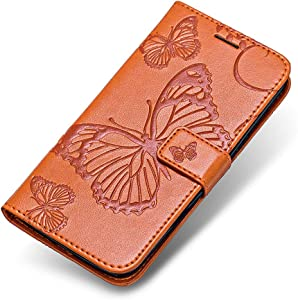 Huawei Lite Case  The Grafu  Wallet Bookstyle Leather Shockproof Stand Case with Card Slots and Magnetic Closure for Huawei Lite  Orange