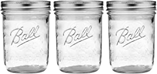 Ball Wide Mouth Pint 16-Ounces Mason Jars with Lids and Bands, (Set of 3)