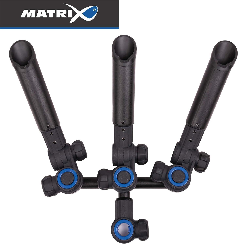 Fox Matrix 3D-R Multi Angle Rod Holder - Rutenhalter für 3 Angelruten, Rutenstnder zum Feederangeln, Rutenablage für Feederrute