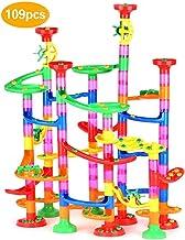 Queta Circuito Canicas, Pistas para canicas, Bloques de construcción de construcción educativa Stem para niños Mayores de 3 años, 109 Piezas