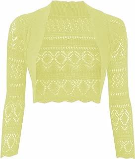 Donna Elegante Nuovo Anteriore Legare Knot Bolero Shrug Crop aperto Wrap Top Cardigan UK
