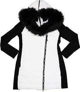 Calvin Klein Sweater-Sleeve Faux Fur Hooded Full Zip Coat