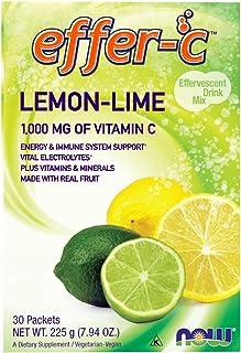 NOW Supplements, Effer-C™, Lemon-Lime, Vital Electrolytes*, 1000 mg of Vitamin C, 30 Packets