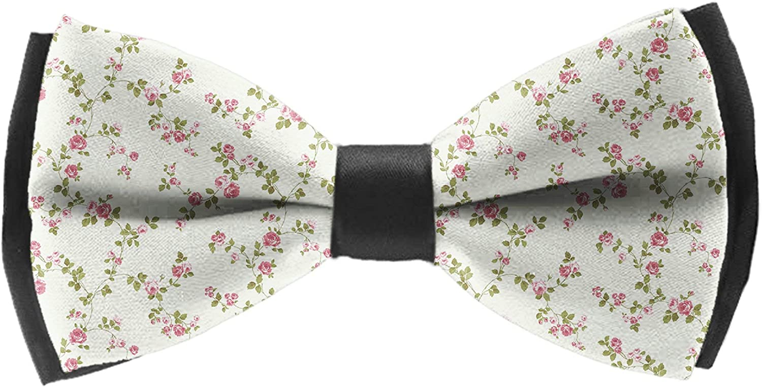 Mens Bow Ties Handmade Pre-Tied Cow Pattern Bow Ties For Men