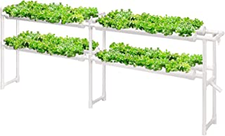 Hydroponic Grow Kit, 2 Layers 72 Plant Sites 8 PVC Pipes Hydroponics Growing System with Water Pump, Pump Timer, for Leafy...