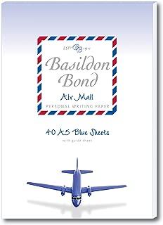 BASILDON BOND AIRMAIL WRIT PAD 40SHT BLU