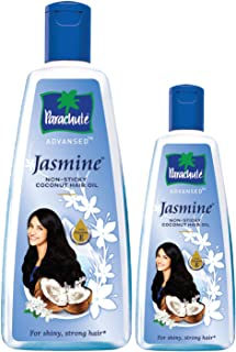 Parachute Advansed Jasmine, Coconut Hair Oil, 400 ml with Free 90 ml pack (Non Sticky)