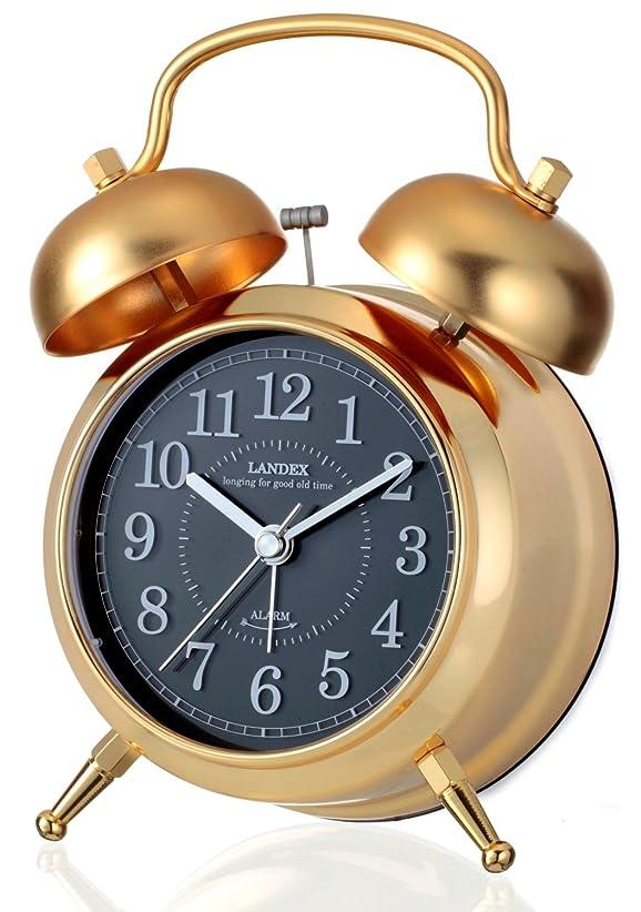 ピービッシュに関して有利ランデックス(Landex) 目覚まし時計 アナログ カンパネラ 常時点灯 ゴールド YT5230GD