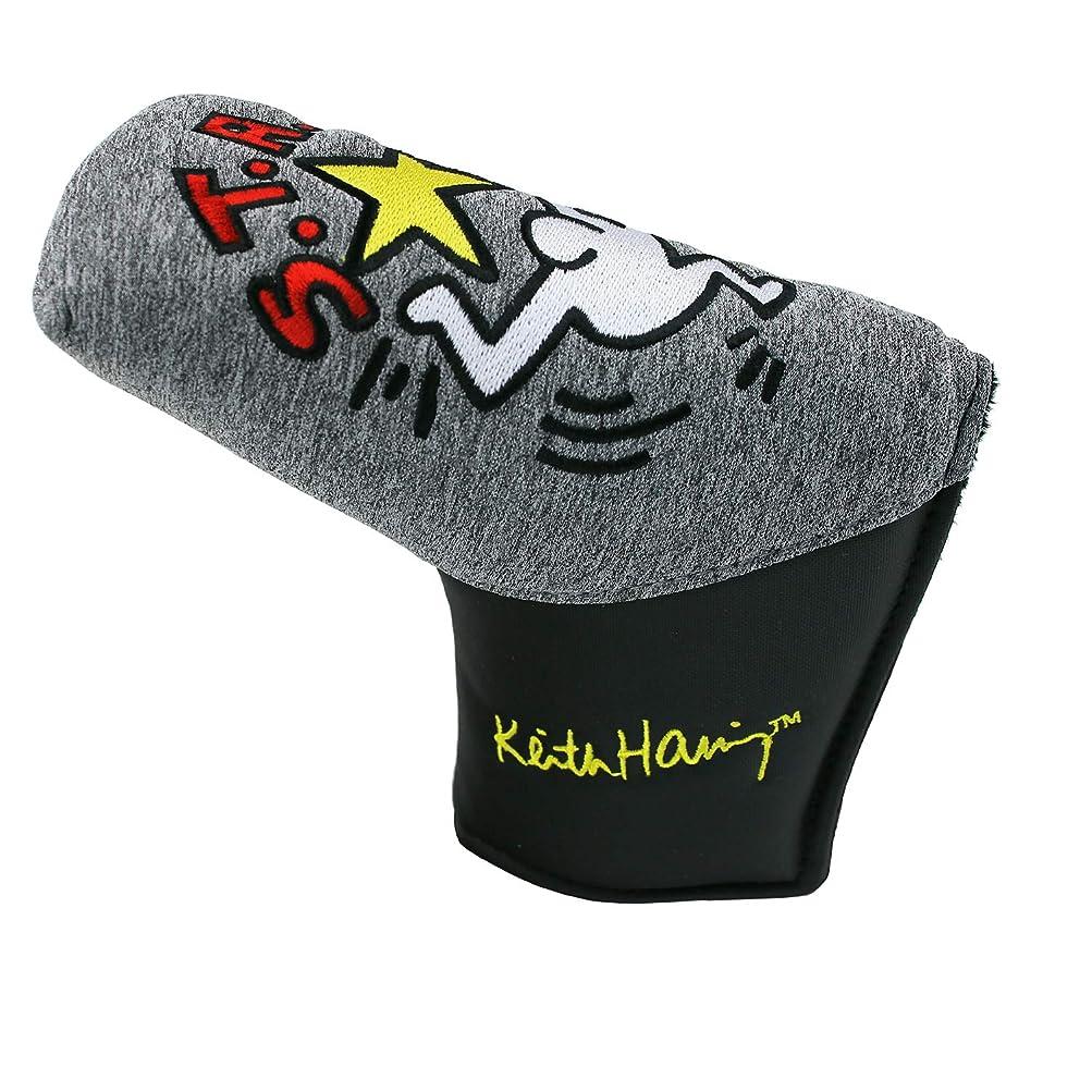修士号深く鳥キース?ヘリング(Keith Haring) ゴルフ ピン型 パターカバー Star ライトグレー KHPC-05
