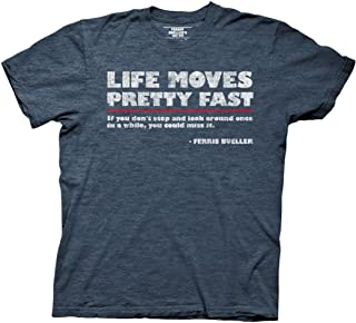 Ferris Bueller's Day Off Life Moves Quote Adult T-Shirt