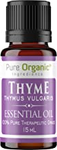 Thyme Essential Oil (15 ml) by Pure Organic Ingredients, Convenient Dropper Cap Bottle, Food Safe, Helps Support The Immune System*, Warm, Herbaceous Aroma with Spicy Undertones